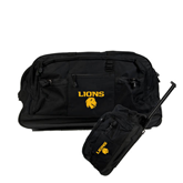 Urban Passage Wheeled Black Duffel-Stacked Lions with Head