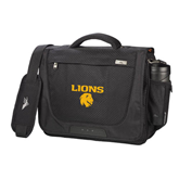 High Sierra Black Upload Business Compu Case-Stacked Lions with Head