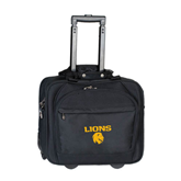 Embassy Plus Rolling Black Compu Brief-Stacked Lions with Head