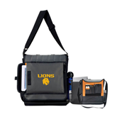Impact Vertical Black Computer Messenger Bag-Stacked Lions with Head