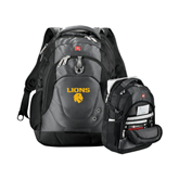 Wenger Swiss Army Tech Charcoal Compu Backpack-Stacked Lions with Head