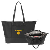 Stella Black Computer Tote-Stacked Lions with Head