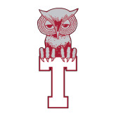 Medium Decal-Vintage Owl Atop T, 8 inches tall