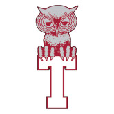 Large Decal-Vintage Owl Atop T, 12 inches tall