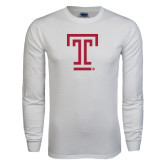 White Long Sleeve T Shirt-Knockout T
