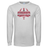 White Long Sleeve T Shirt-Bad Boy Mowers Gasparilla Bowl Champions - Gradient