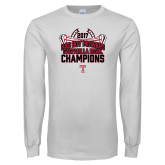 White Long Sleeve T Shirt-Bad Boy Mowers Gasparilla Bowl Champions - Stadium