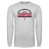 White Long Sleeve T Shirt-Bad Boy Mowers Gasparilla Bowl Champions - Football
