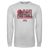 White Long Sleeve T Shirt-2018 Temple Independence Bowl