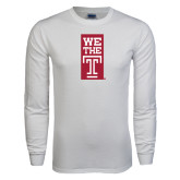 White Long Sleeve T Shirt-We The T Vertical