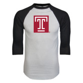 White/Black Raglan Baseball T-Shirt-Box T