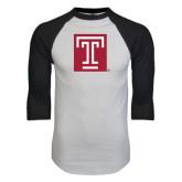 White/Black Raglan Baseball T-Shirt-Box T