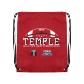 Cardinal Drawstring Backpack-Temple 2018 Independence Bowl