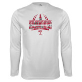 Performance White Longsleeve Shirt-Bad Boy Mowers Gasparilla Bowl Champions - Gradient