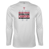 Syntrel Performance White Longsleeve Shirt-Bad Boy Mowers Gasparilla Bowl Champions - Year
