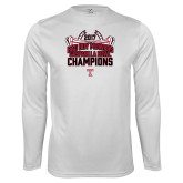 Performance White Longsleeve Shirt-Bad Boy Mowers Gasparilla Bowl Champions - Stadium