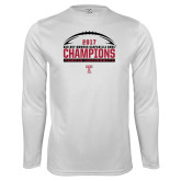Syntrel Performance White Longsleeve Shirt-Bad Boy Mowers Gasparilla Bowl Champions - Football