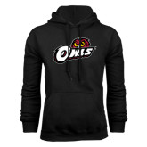Black Fleece Hoodie-Owls w/Owl Head