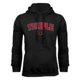 Black Fleece Hoodie-Arched Temple w/ Owl Head