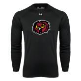 Under Armour Black Long Sleeve Tech Tee-Owl Head