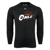 Under Armour Black Long Sleeve Tech Tee-Owls w/Owl Head