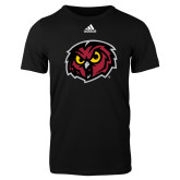 Adidas Black Logo T Shirt-Owl Head