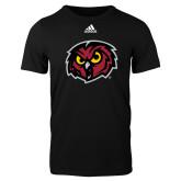 Adidas Black Logo T Shirt-Owl Head