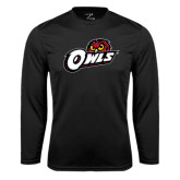 Syntrel Performance Black Longsleeve Shirt-Owls w/Owl Head