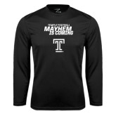 Performance Black Longsleeve Shirt-Mayhem Is Coming