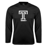 Syntrel Performance Black Longsleeve Shirt-Knockout T