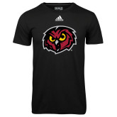 Adidas Climalite Black Ultimate Performance Tee-Owl Head