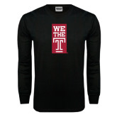 Black Long Sleeve TShirt-We The T Vertical