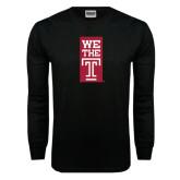 Black Long Sleeve TShirt-We The T Vertical