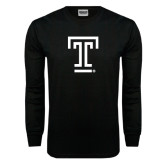 Black Long Sleeve TShirt-Knockout T