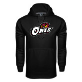 Under Armour Black Performance Sweats Team Hoodie-Owls w/Owl Head