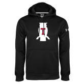 Under Armour Black Performance Sweats Team Hood-Perched Owl T