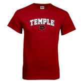 Cardinal T Shirt-Arched Temple w/ Owl Head