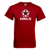 Cardinal T Shirt-Owls Soccer Geometric Ball