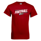 Cardinal T Shirt-Football Slanted