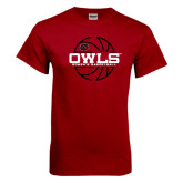Cardinal T Shirt-Owls Womens Basketball w/Lined Ball