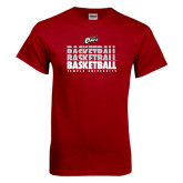 Cardinal T Shirt-Temple University Basketball Repeating