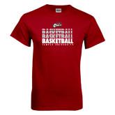 Cardinal T Shirt-Temple University Basketball Repeating