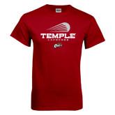 Cardinal T Shirt-Temple Lacrosse Modern