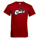 Cardinal T Shirt-Owls w/Owl Head