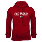 Cardinal Fleece Hoodie-Temple University Field Hockey Stencil