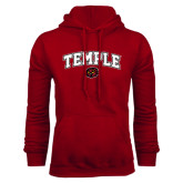 Cardinal Fleece Hoodie-Arched Temple w/ Owl Head