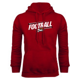 Cardinal Fleece Hood-Football Slanted