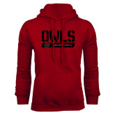 Cardinal Fleece Hoodie-Owls Basketball Stencil w/Bar