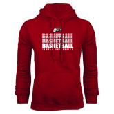 Cardinal Fleece Hood-Temple University Basketball Repeating