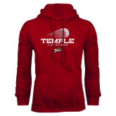 Cardinal Fleece Hood-Temple Lacrosse Modern